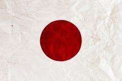 Bandiera del giapponese Immagini Stock