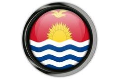 Bandiera del Kiribati nel perno del bottone isolato su fondo bianco Fotografia Stock