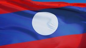 Bandiera del Laos al rallentatore senza cuciture avvolta con l'alfa archivi video