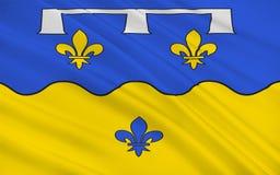 Bandiera del Loir-et-Cher, Francia fotografia stock libera da diritti