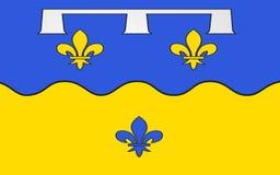 Bandiera del Loir-et-Cher, Francia fotografia stock