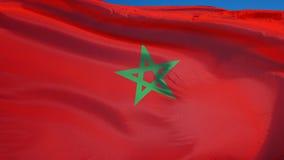 Bandiera del Marocco al rallentatore senza cuciture avvolta con l'alfa royalty illustrazione gratis