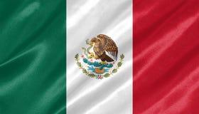Bandiera del Messico fotografia stock libera da diritti