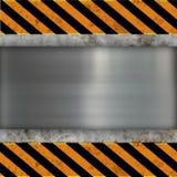 Bandiera del metallo Fotografia Stock