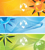Bandiera del mondo illustrazione di stock