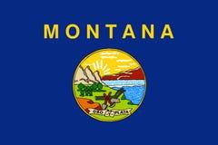 Bandiera del Montana U S Bandiera dello stato illustrazione di stock
