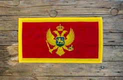 Bandiera del Montenegro Fotografie Stock
