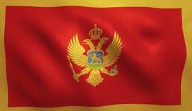 Bandiera del Montenegro Immagini Stock Libere da Diritti