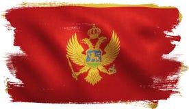 Bandiera del Montenegro Fotografia Stock