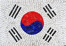 Bandiera del mosaico della Corea del Sud Fotografia Stock