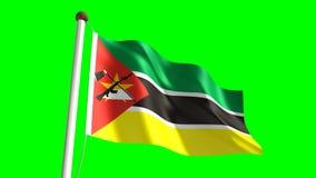Bandiera del Mozambico stock footage