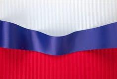 Bandiera del nastro blu Fotografia Stock