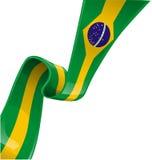 Bandiera del nastro del Brasile Fotografia Stock Libera da Diritti