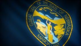 Bandiera del Nebraska illustrazione vettoriale