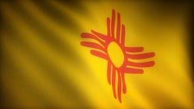 Bandiera del New Mexico royalty illustrazione gratis