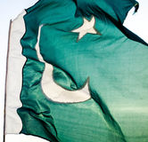 Bandiera del Pakistan Fotografia Stock