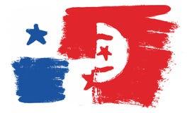 Bandiera del Panama Fotografia Stock Libera da Diritti