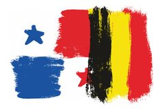 Bandiera del Panama Immagine Stock