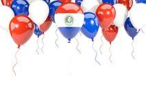 Bandiera del Paraguay sui palloni Fotografia Stock