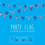 Bandiera del partito Fotografia Stock