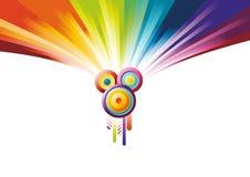 Bandiera del partito del Rainbow Fotografia Stock