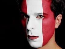 Bandiera del Perù Fotografia Stock