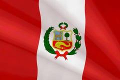 Bandiera del Perù Immagine Stock