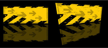 Bandiera del pericolo illustrazione vettoriale