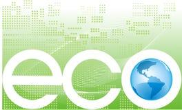 Bandiera del pianeta di Eco Immagini Stock