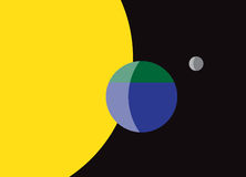 Bandiera del pianeta Terra Fotografia Stock