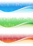 Bandiera del pixel Immagine Stock