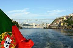 Bandiera del Portoghese fotografia stock