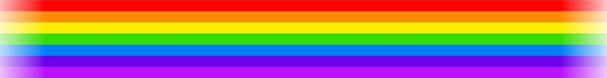 Bandiera del Rainbow Immagine Stock Libera da Diritti