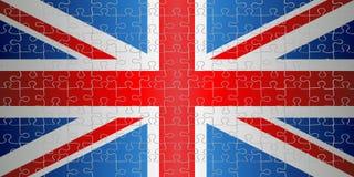 Bandiera del Regno Unito con il fondo di puzzle royalty illustrazione gratis