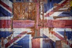 Bandiera del Regno Unito del ferro ondulato Immagini Stock Libere da Diritti