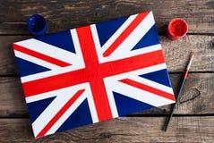 Bandiera del Regno Unito della Gran Bretagna e nordico dipinti Fotografie Stock