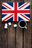 Bandiera del Regno Unito della Gran Bretagna e nordico dipinti Immagini Stock