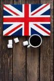Bandiera del Regno Unito della Gran Bretagna e nordico dipinti Fotografia Stock Libera da Diritti