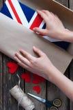 Bandiera del Regno Unito della Gran Bretagna e nordico dipinti Immagine Stock