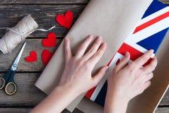 Bandiera del Regno Unito della Gran Bretagna e nordico dipinti Fotografie Stock Libere da Diritti