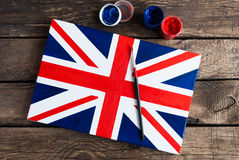 Bandiera del Regno Unito della Gran Bretagna e nordico dipinti Immagini Stock Libere da Diritti