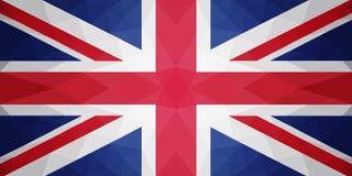 Bandiera del Regno Unito - modello poligonale triangolare Fotografia Stock
