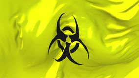 343 Bandiera del segnale di rischio biologico che ondeggia nel fondo senza cuciture continuo del ciclo del vento illustrazione di stock
