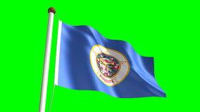 Bandiera del Sud Dakota illustrazione di stock