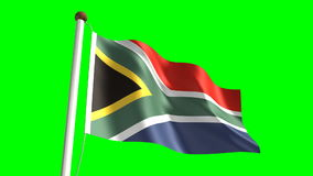 Bandiera del Sudafrica royalty illustrazione gratis