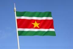 Bandiera del Surinam fotografia stock
