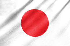 Bandiera del tessuto del Giappone Fotografie Stock