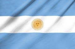 Bandiera del tessuto dell'Argentina Fotografia Stock Libera da Diritti