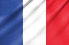Bandiera del tessuto della Francia Immagine Stock