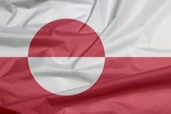 Bandiera del tessuto della Groenlandia Piega del fondo della bandiera della Groenlandia illustrazione vettoriale